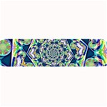 Power Spiral Polygon Blue Green White Large Bar Mats 34 x9.03 Bar Mat - 1