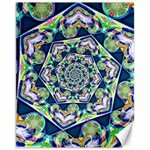 Power Spiral Polygon Blue Green White Canvas 11  x 14   14 x11 Canvas - 1