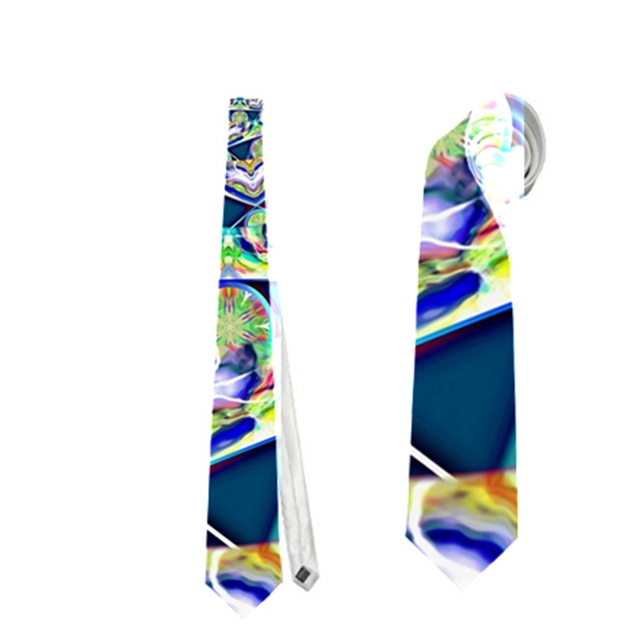 Power Spiral Polygon Blue Green White Neckties (Two Side)