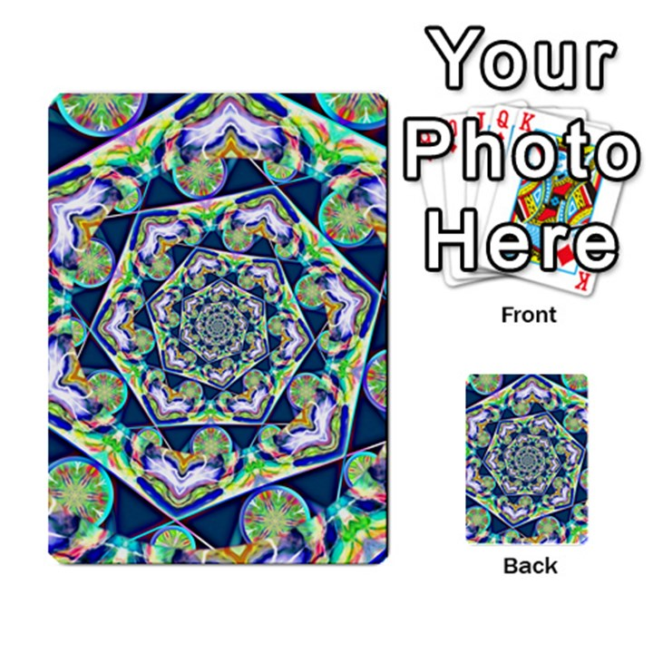 Power Spiral Polygon Blue Green White Multi-purpose Cards (Rectangle)
