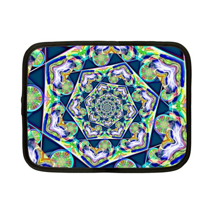 Power Spiral Polygon Blue Green White Netbook Case (Small)