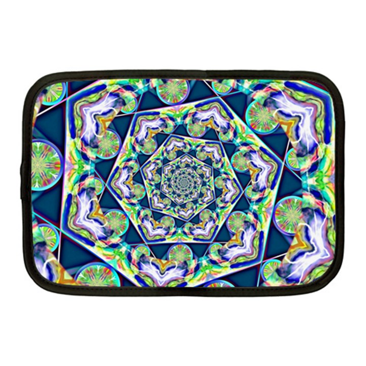 Power Spiral Polygon Blue Green White Netbook Case (Medium)