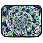 Power Spiral Polygon Blue Green White Netbook Case (Large) Front