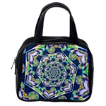 Power Spiral Polygon Blue Green White Classic Handbags (One Side) Front