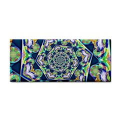 Power Spiral Polygon Blue Green White Hand Towel