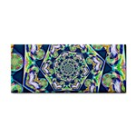 Power Spiral Polygon Blue Green White Hand Towel Front