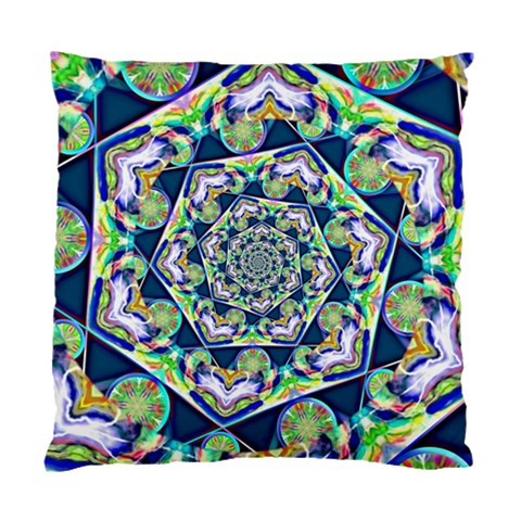Power Spiral Polygon Blue Green White Standard Cushion Case (Two Sides)