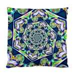 Power Spiral Polygon Blue Green White Standard Cushion Case (Two Sides) Front