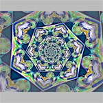 Power Spiral Polygon Blue Green White Mini Canvas 7  x 5  7  x 5  x 0.875  Stretched Canvas