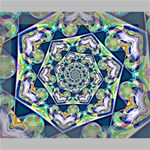Power Spiral Polygon Blue Green White Canvas 10  x 8  10  x 8  x 0.875  Stretched Canvas