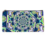Power Spiral Polygon Blue Green White Pencil Cases Front