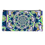 Power Spiral Polygon Blue Green White Pencil Cases Back