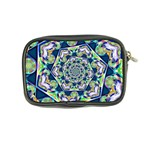 Power Spiral Polygon Blue Green White Coin Purse Back