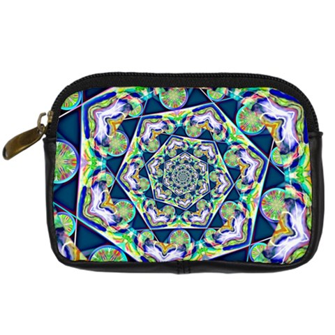Power Spiral Polygon Blue Green White Digital Camera Cases