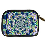 Power Spiral Polygon Blue Green White Digital Camera Cases Back