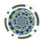 Power Spiral Polygon Blue Green White Poker Chip Card Guards (10 pack)  Back