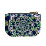 Power Spiral Polygon Blue Green White Mini Coin Purses Back