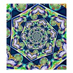 Power Spiral Polygon Blue Green White Shower Curtain 66  x 72  (Large)  58.75 x64.8 Curtain