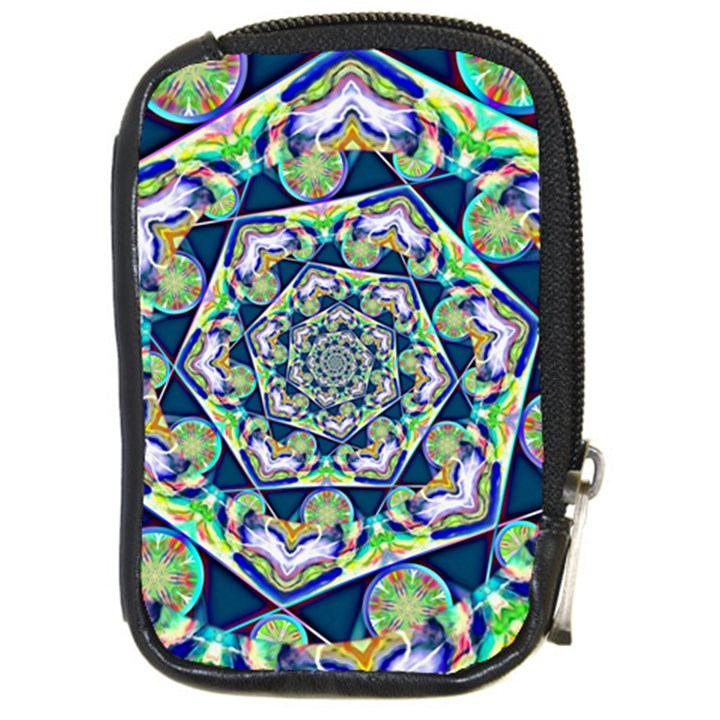 Power Spiral Polygon Blue Green White Compact Camera Cases