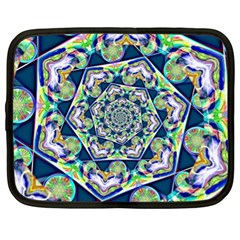 Power Spiral Polygon Blue Green White Netbook Case (XL)