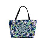 Power Spiral Polygon Blue Green White Shoulder Handbags Back