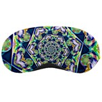Power Spiral Polygon Blue Green White Sleeping Masks Front