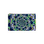 Power Spiral Polygon Blue Green White Cosmetic Bag (Small)  Front