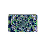Power Spiral Polygon Blue Green White Cosmetic Bag (Small)  Back