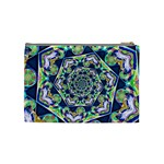 Power Spiral Polygon Blue Green White Cosmetic Bag (Medium)  Back