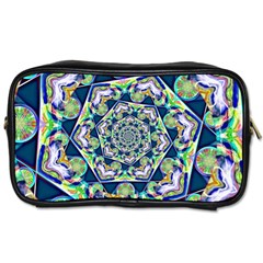 Power Spiral Polygon Blue Green White Toiletries Bags