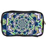 Power Spiral Polygon Blue Green White Toiletries Bags Front