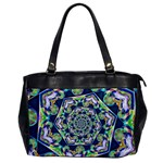 Power Spiral Polygon Blue Green White Office Handbags Front