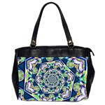 Power Spiral Polygon Blue Green White Office Handbags (2 Sides)  Front