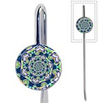 Power Spiral Polygon Blue Green White Book Mark Front