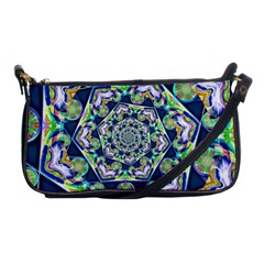 Power Spiral Polygon Blue Green White Shoulder Clutch Bags