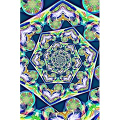 Power Spiral Polygon Blue Green White 5.5  x 8.5  Notebooks