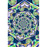 Power Spiral Polygon Blue Green White 5.5  x 8.5  Notebooks Back Cover