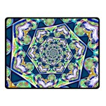 Power Spiral Polygon Blue Green White Fleece Blanket (Small) 50 x40 Blanket Front