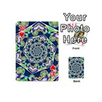 Power Spiral Polygon Blue Green White Playing Cards 54 (Mini)  Front - Heart10