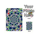 Power Spiral Polygon Blue Green White Playing Cards 54 (Mini)  Front - Diamond3