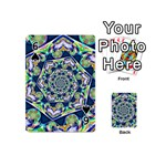 Power Spiral Polygon Blue Green White Playing Cards 54 (Mini)  Front - Spade6