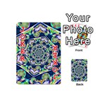 Power Spiral Polygon Blue Green White Playing Cards 54 (Mini)  Front - Joker2