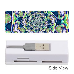 Power Spiral Polygon Blue Green White Memory Card Reader (stick)