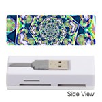 Power Spiral Polygon Blue Green White Memory Card Reader (Stick)  Front