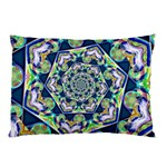 Power Spiral Polygon Blue Green White Pillow Case (Two Sides) Back