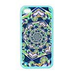 Power Spiral Polygon Blue Green White Apple iPhone 4 Case (Color) Front