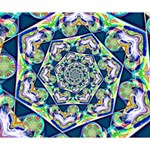Power Spiral Polygon Blue Green White Deluxe Canvas 14  x 11  14  x 11  x 1.5  Stretched Canvas