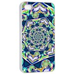 Power Spiral Polygon Blue Green White Apple iPhone 4/4s Seamless Case (White) Front