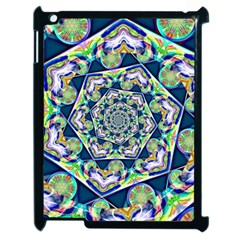 Power Spiral Polygon Blue Green White Apple iPad 2 Case (Black)
