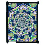 Power Spiral Polygon Blue Green White Apple iPad 2 Case (Black) Front